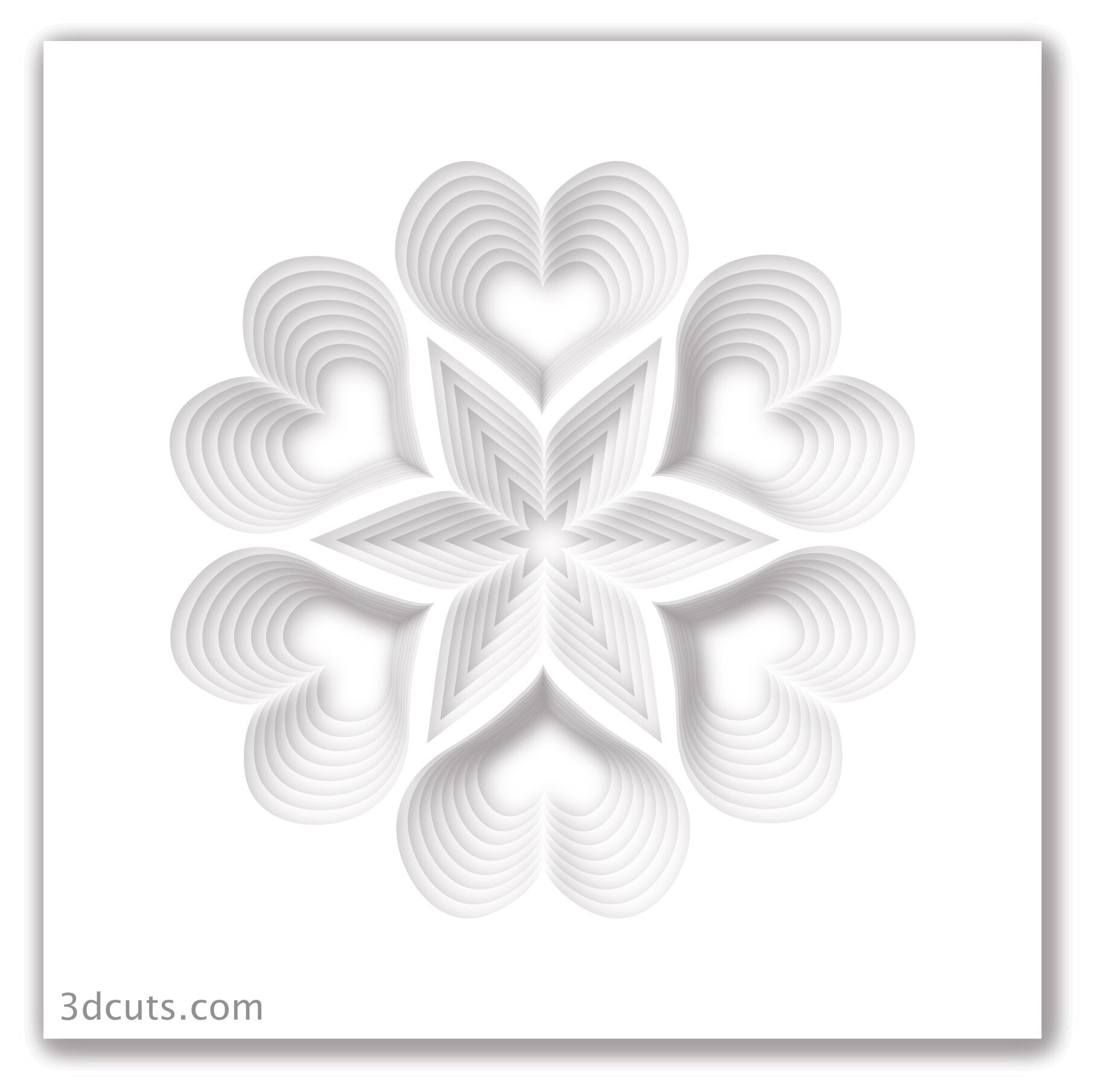 Stacked Hearts Valentine Set 3dcuts Com