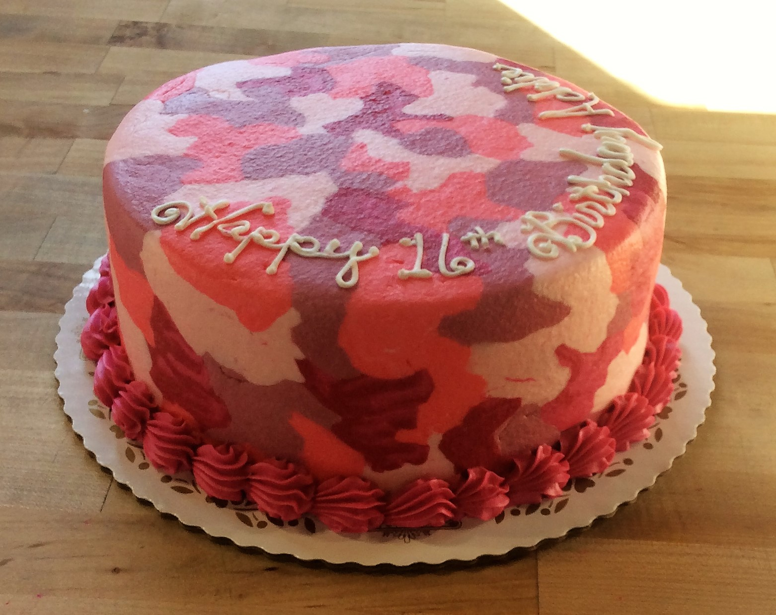 Cake With Camouflage Decoration Trefzger S Bakery