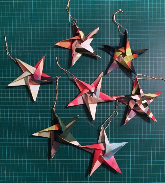 Origami Christmas.Origami Christmas Star Decoration Colour And Form