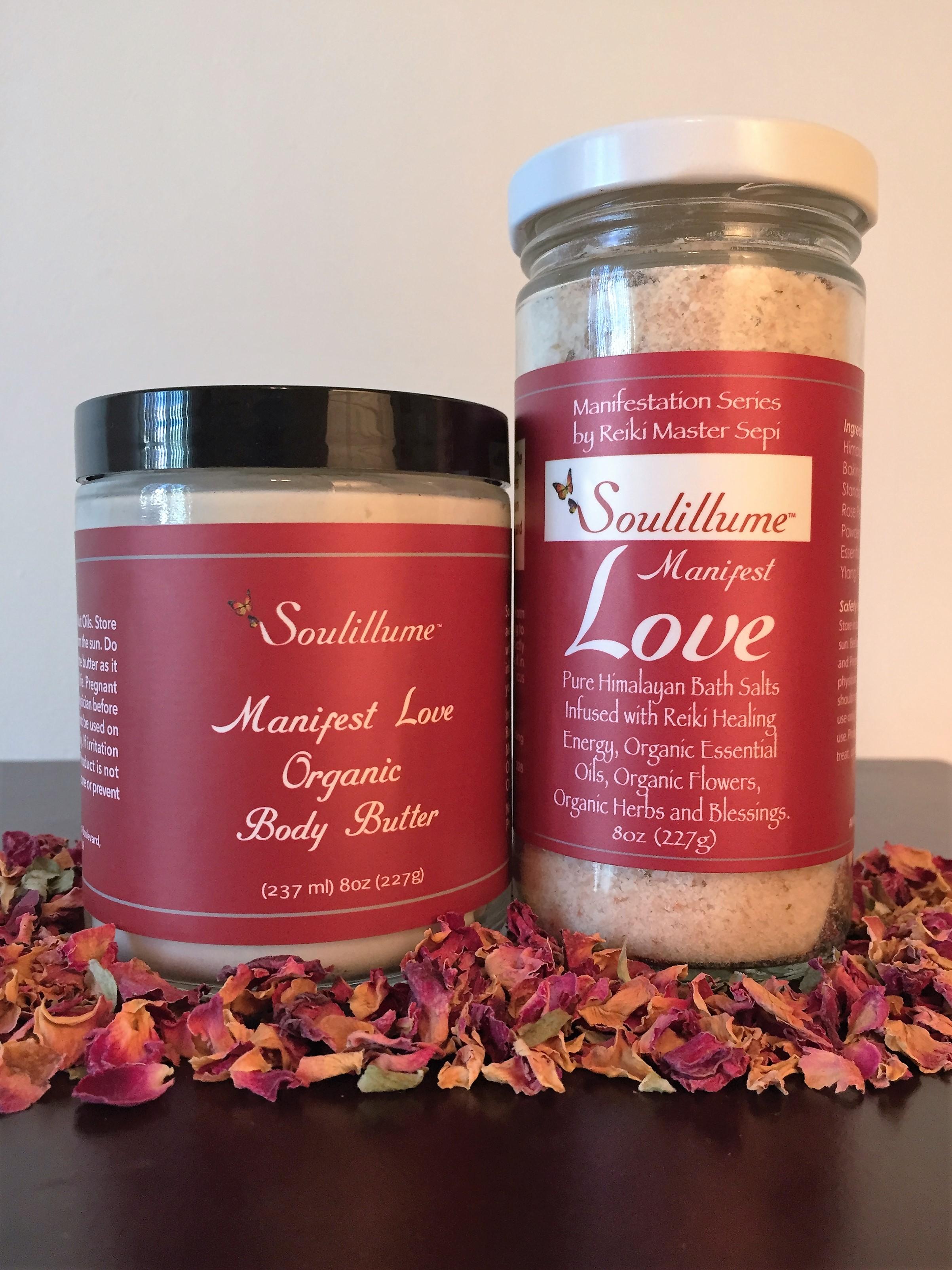 Manifest Love Organic Body Butter and Bath Salt Set — Reiki Master | Energy  Healer, Los Angeles | Soulillume
