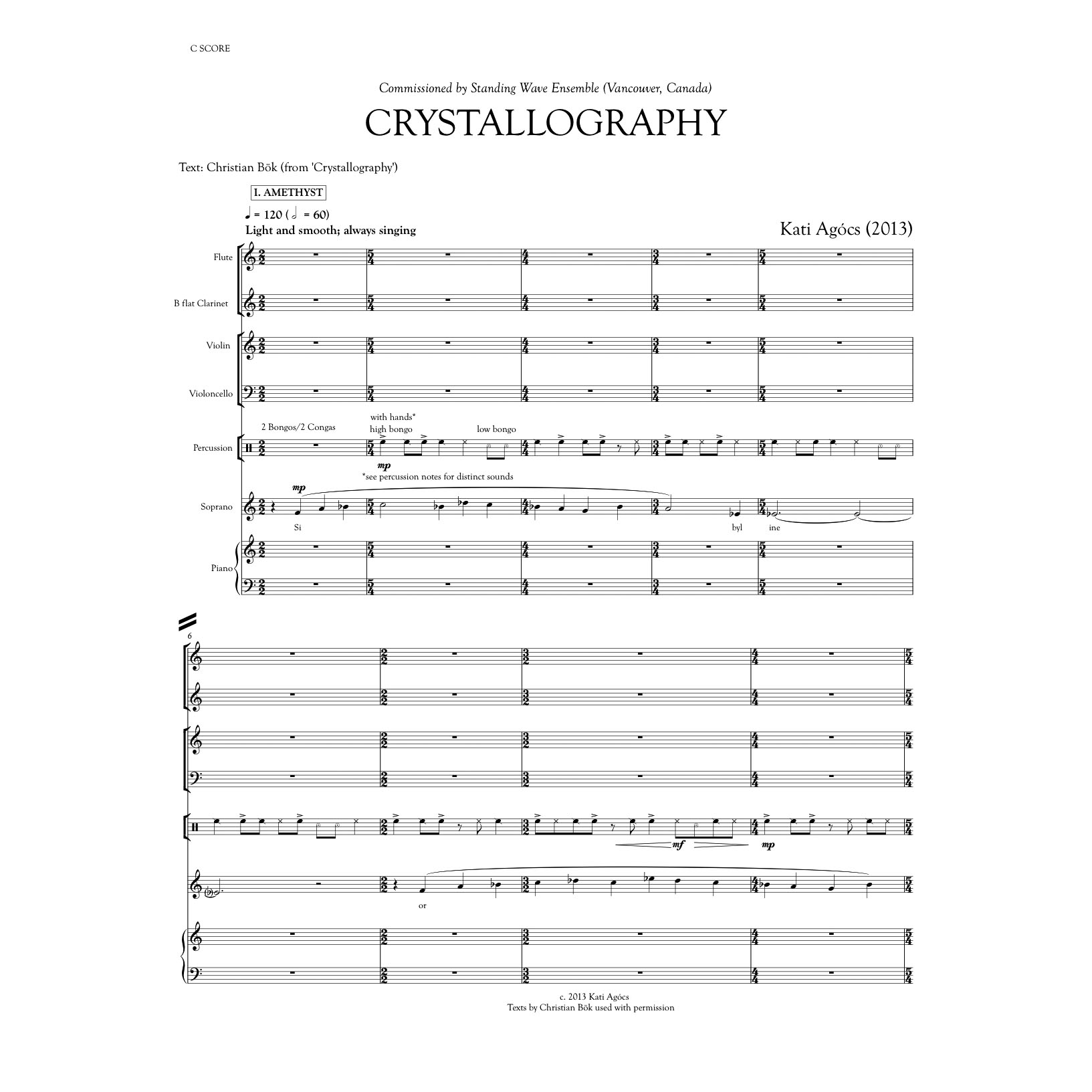 CRYSTALLOGRAPHY — KATI AGÓCS   OFFICIAL WEBSITE   CONTEMPORARY MUSIC  COMPOSER   CLASSICAL MUSIC EDUCATOR   SHEET MUSIC ONLINE