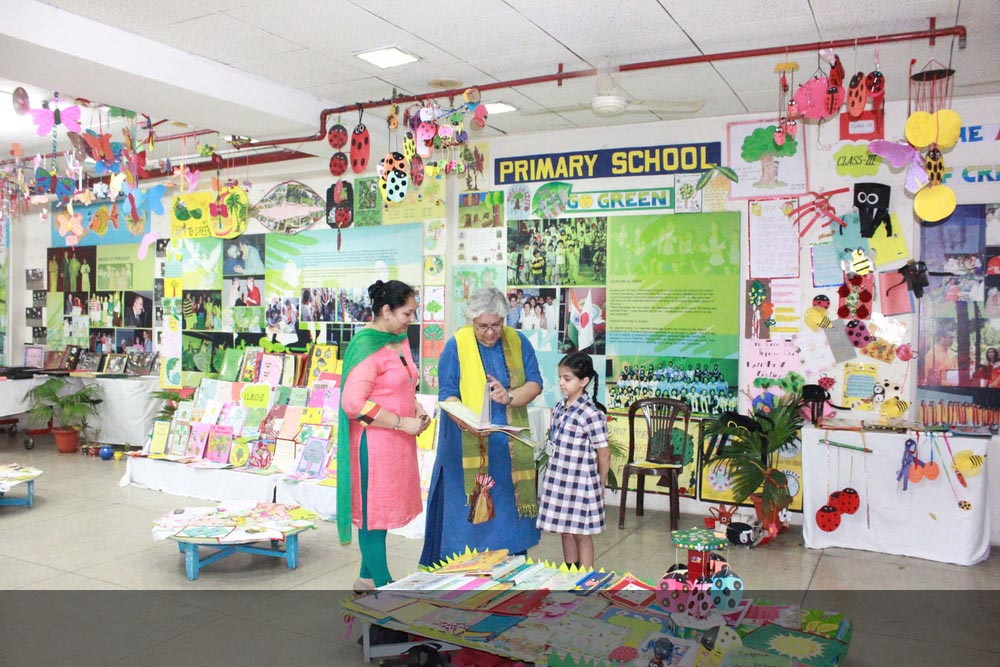 Holiday Homework Exhibition - Chief Guest, Ms. Punam Zutshi, Artist and Independent Researcher