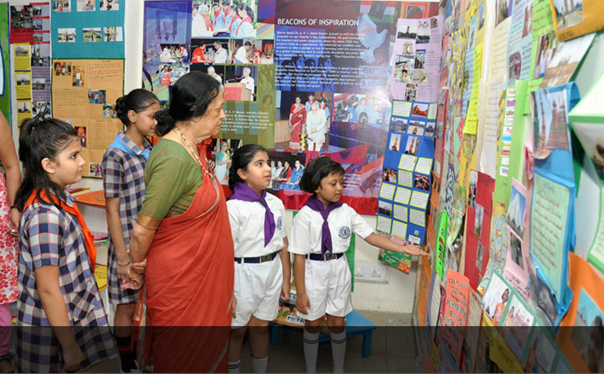 Holiday Homework Exhibition, Chief Guest - Ms. Anjolie Ela Menon, An Internationally Renowned Artist