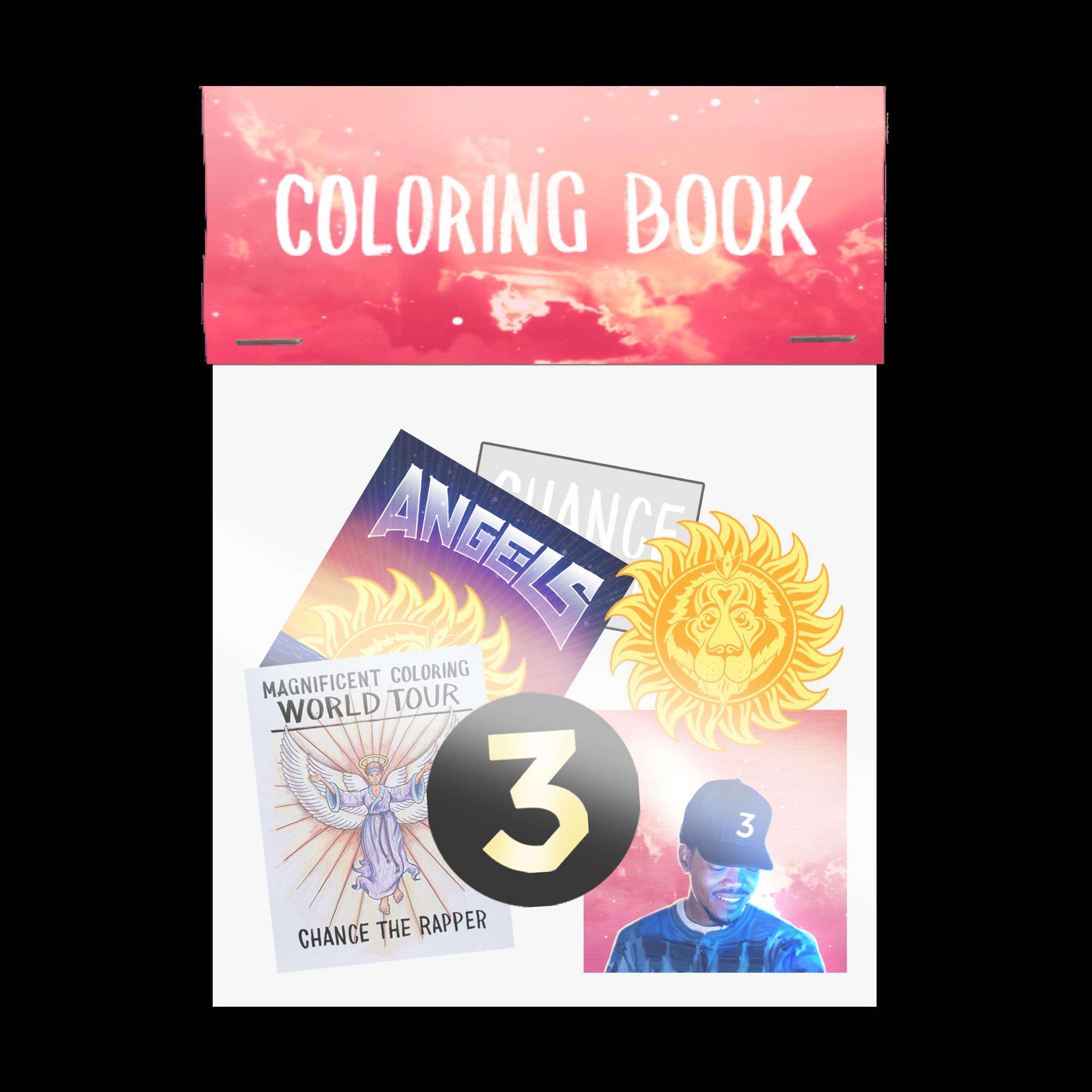 Coloring Book Sticker Pack Digital Album