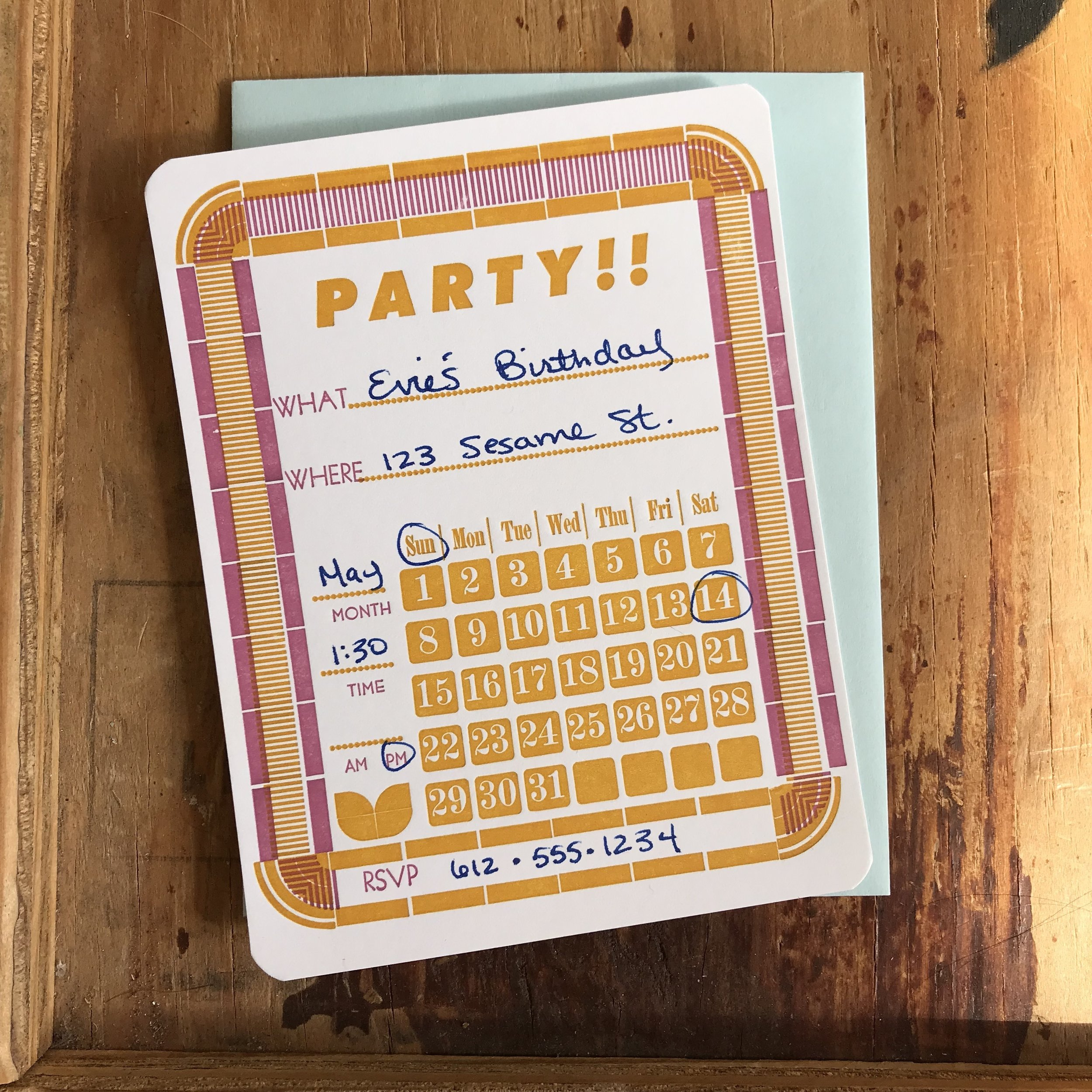 Fill In The Blank Letterpress Party
