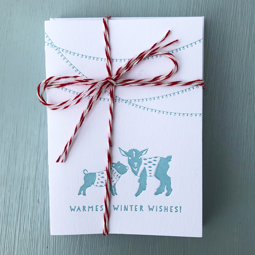 BLUE GOAT Note Cards With Envelopes