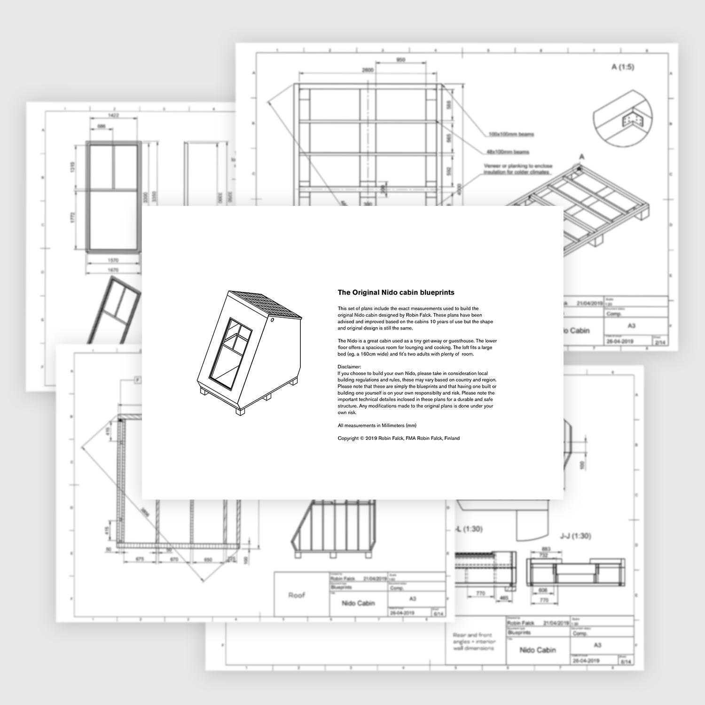 Original Nido Cabin Blueprints — ROBIN FALCK | Designer