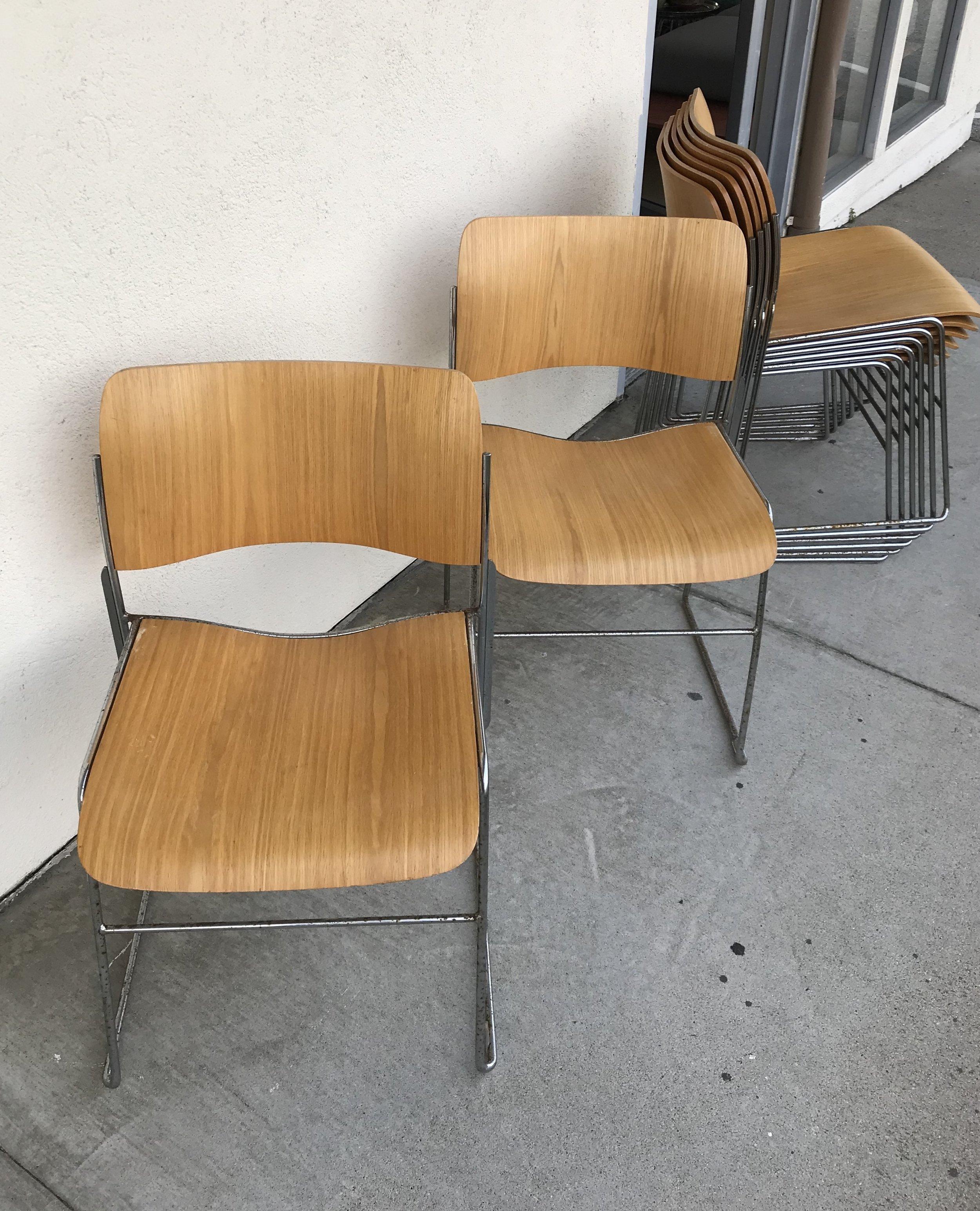 Mid Century 40 4 David Rowland Chairs Set Of 8 Dunepad