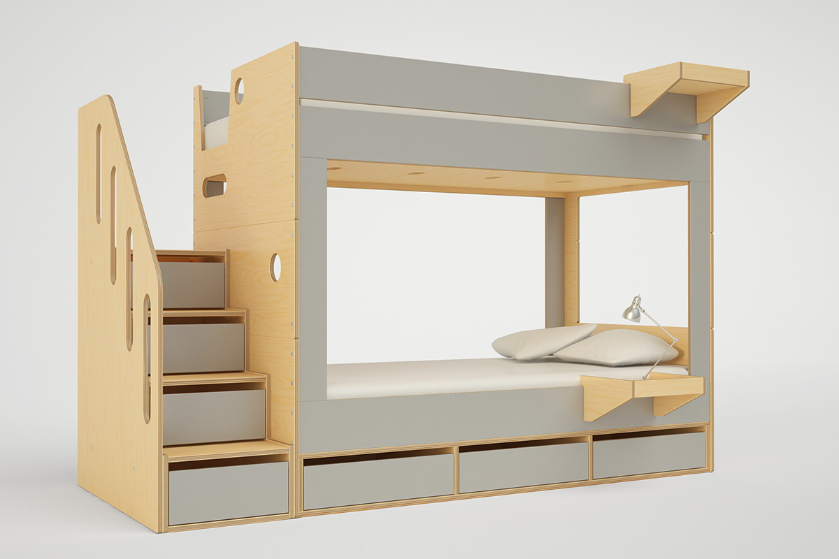 on sale f06d7 2820f CABIN BUNK BED WITH STAIRS — Casa Kids
