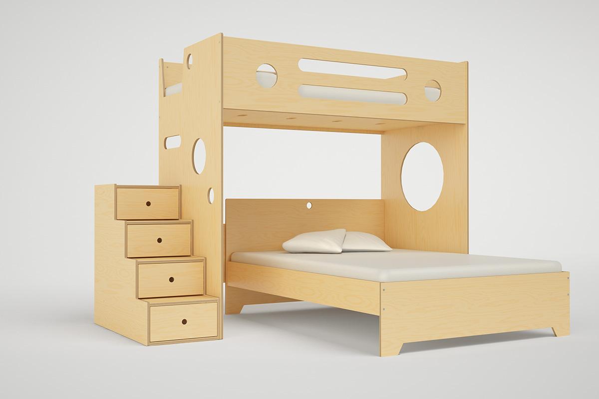 MARINO L SHAPED BUNK BED OVER FULL Casa Kids