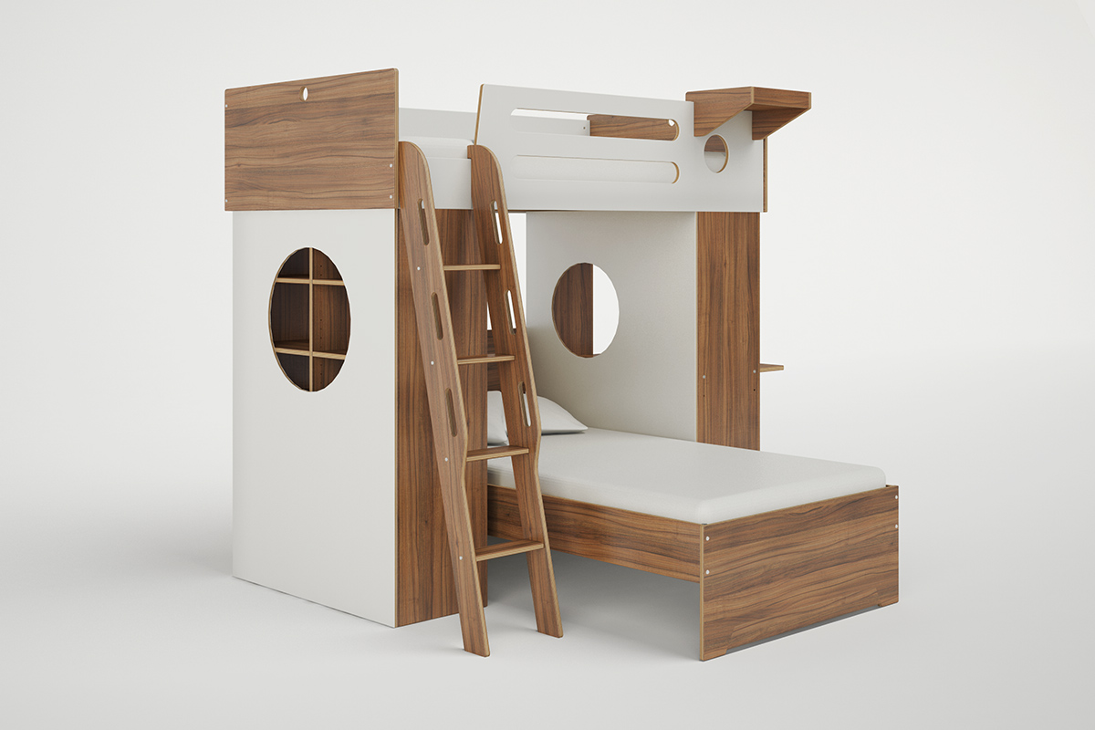 DUMBO L SHAPED LOFT BED WITH LADDER Casa Kids