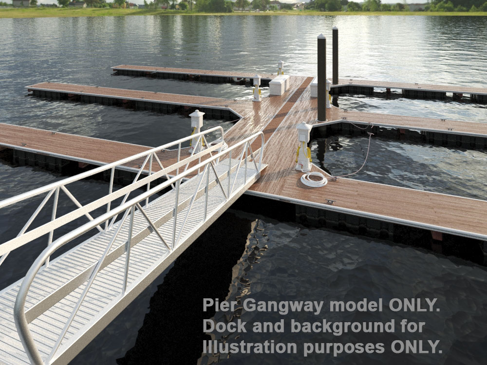Gangway or Ramp for Docks and Marinas 3D model — Visual Media Design