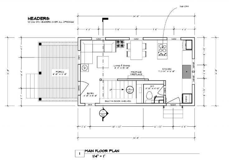 No. 49: Birch — THE small HOUSE CATALOG  X Tiny House Floor Plans And Designs on