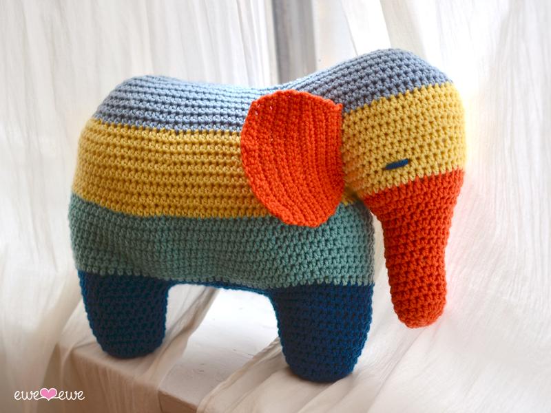 Patches the Elephant PDF Crochet Pattern — Ewe Ewe Yarns