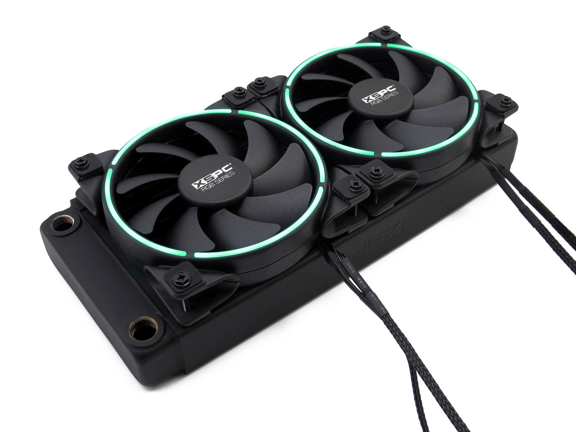 RGB Series 120mm Fan - PWM 800-2200RPM - 12V, 4-Pin, RGB — XSPC