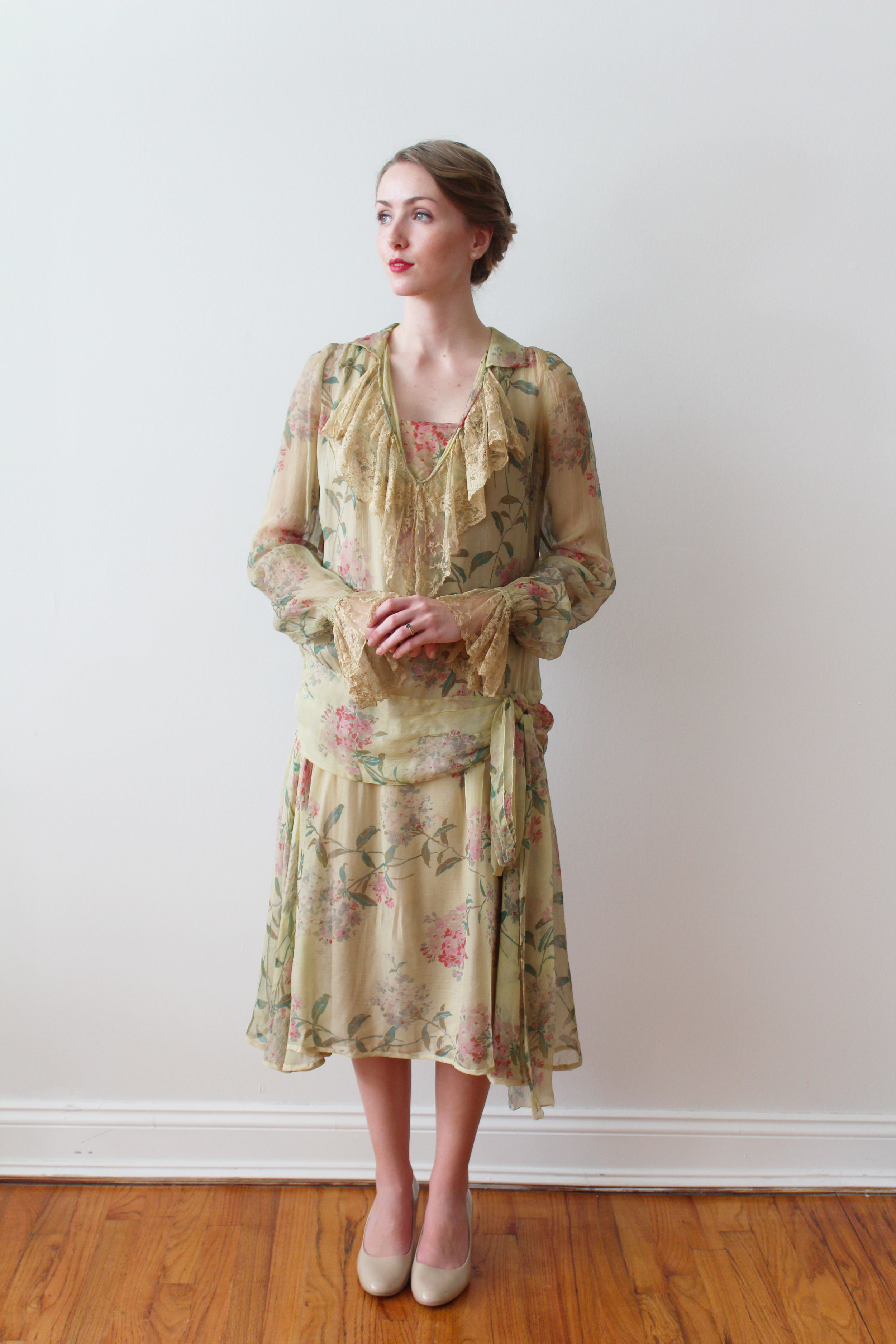 garden party 1920s day dress