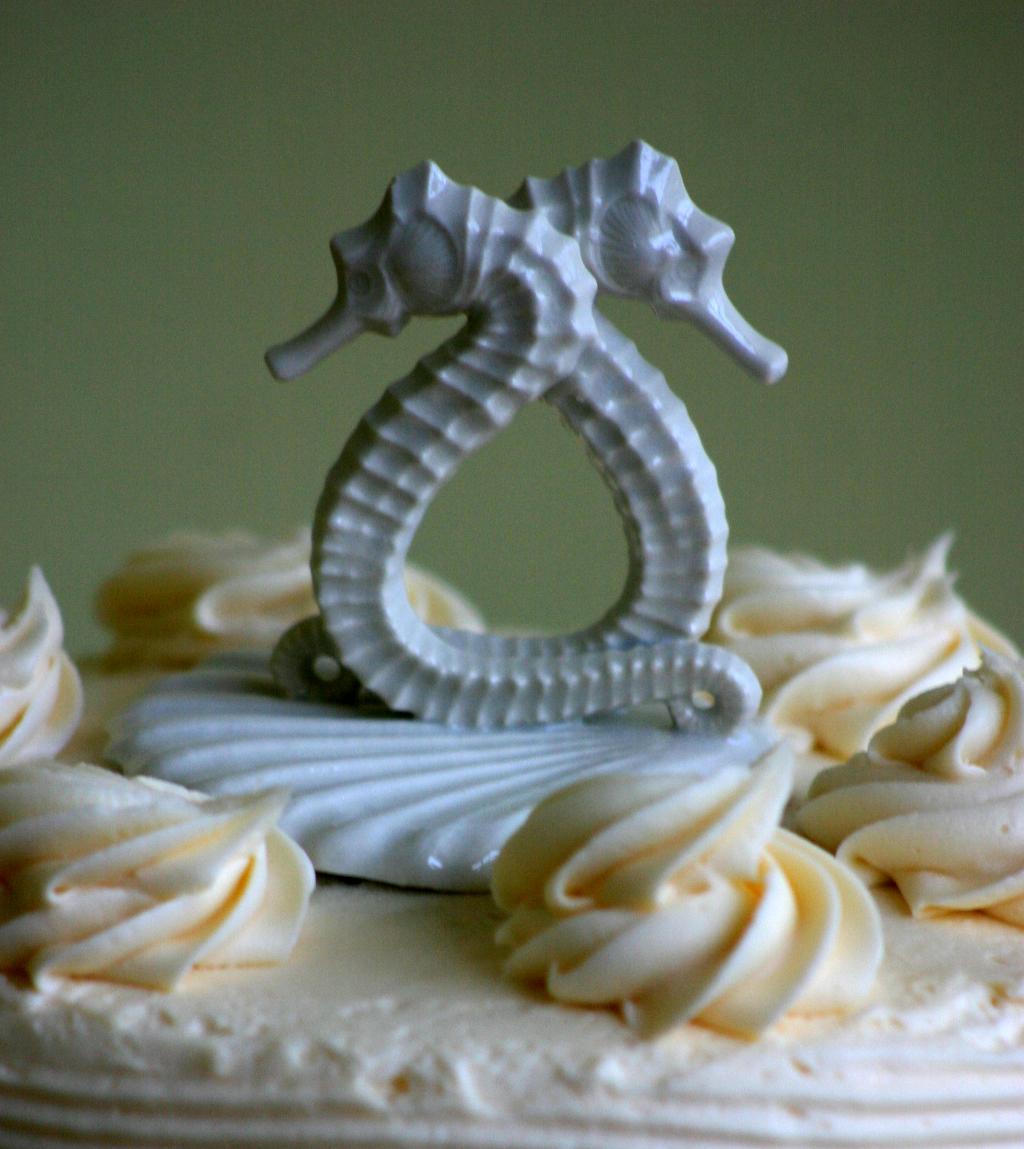 Porcelain Seahorse Cake Topper Beyond Jordan Studio