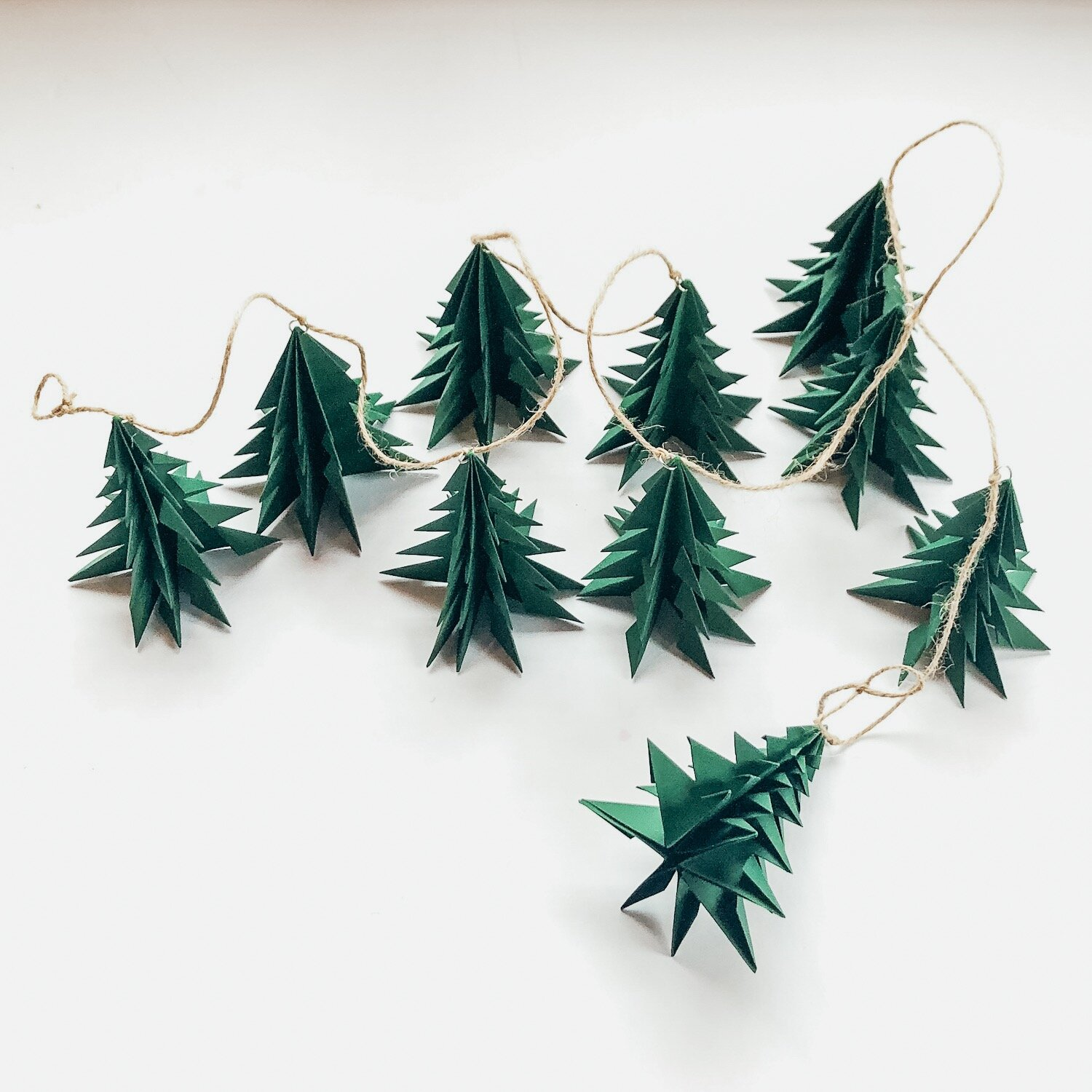 Christmas Tree Garland.December 18 Holiday Paper Tree Garland At Mj Loft Musejar