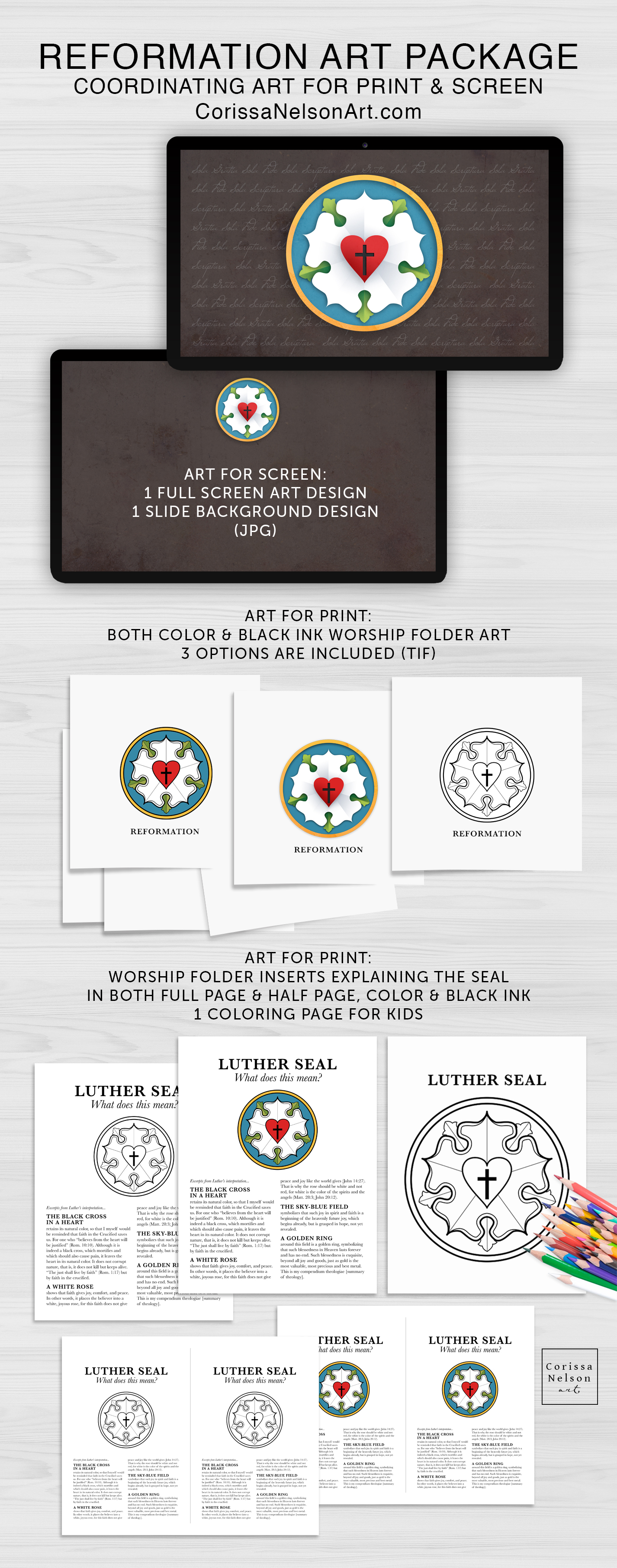 photograph regarding Martin Luther Seal Printable referred to as Reformation Artwork Package deal Corissa Nelson