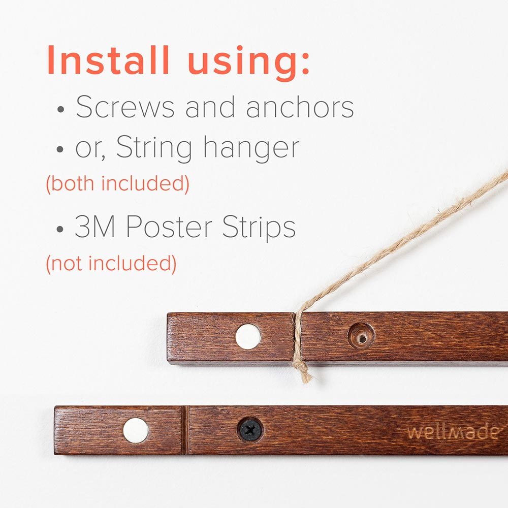 Magnetic Poster Hangers Solid Wood Well Made