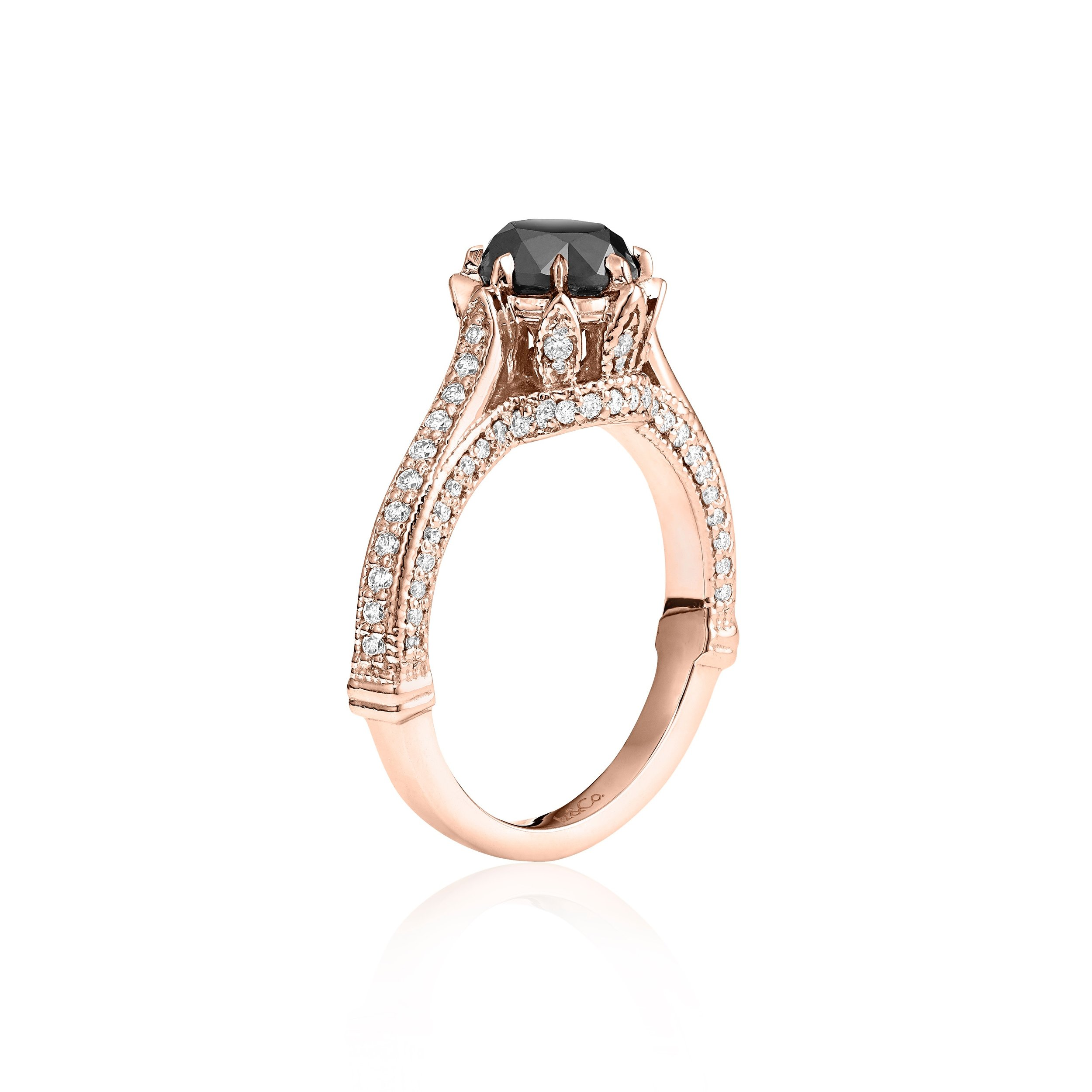 Royal Black White Diamond Ring Set Iz Co