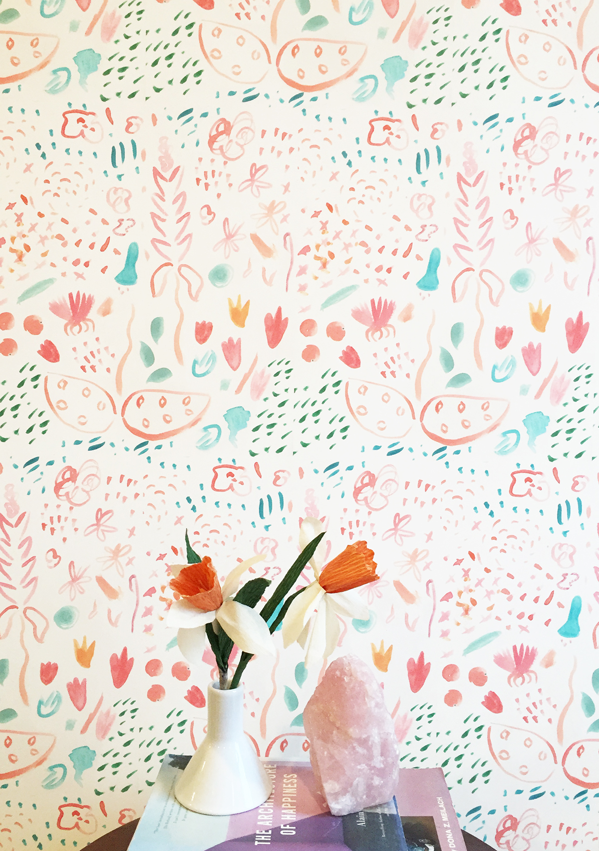 Painted Wild Wallpaper — KATE ZAREMBA