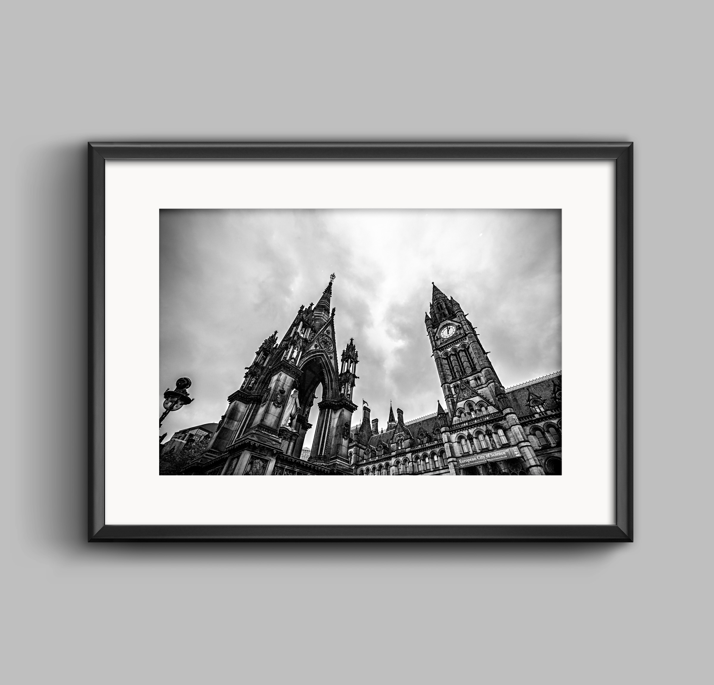Manchester town hall black white photographic print