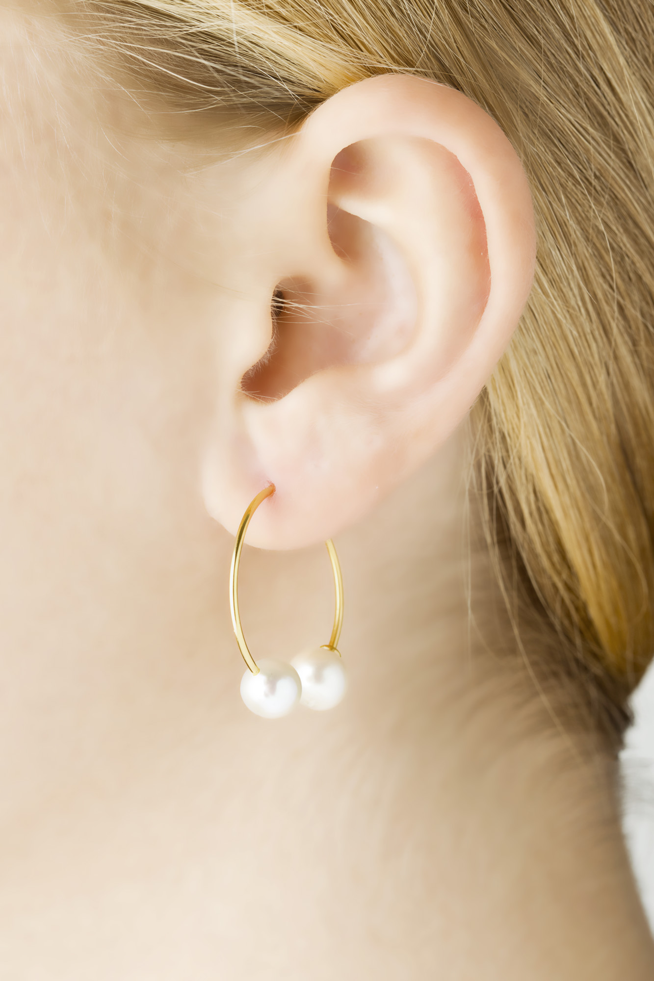 Iris Earring Round Piercing Style Gold Vibe Harslof