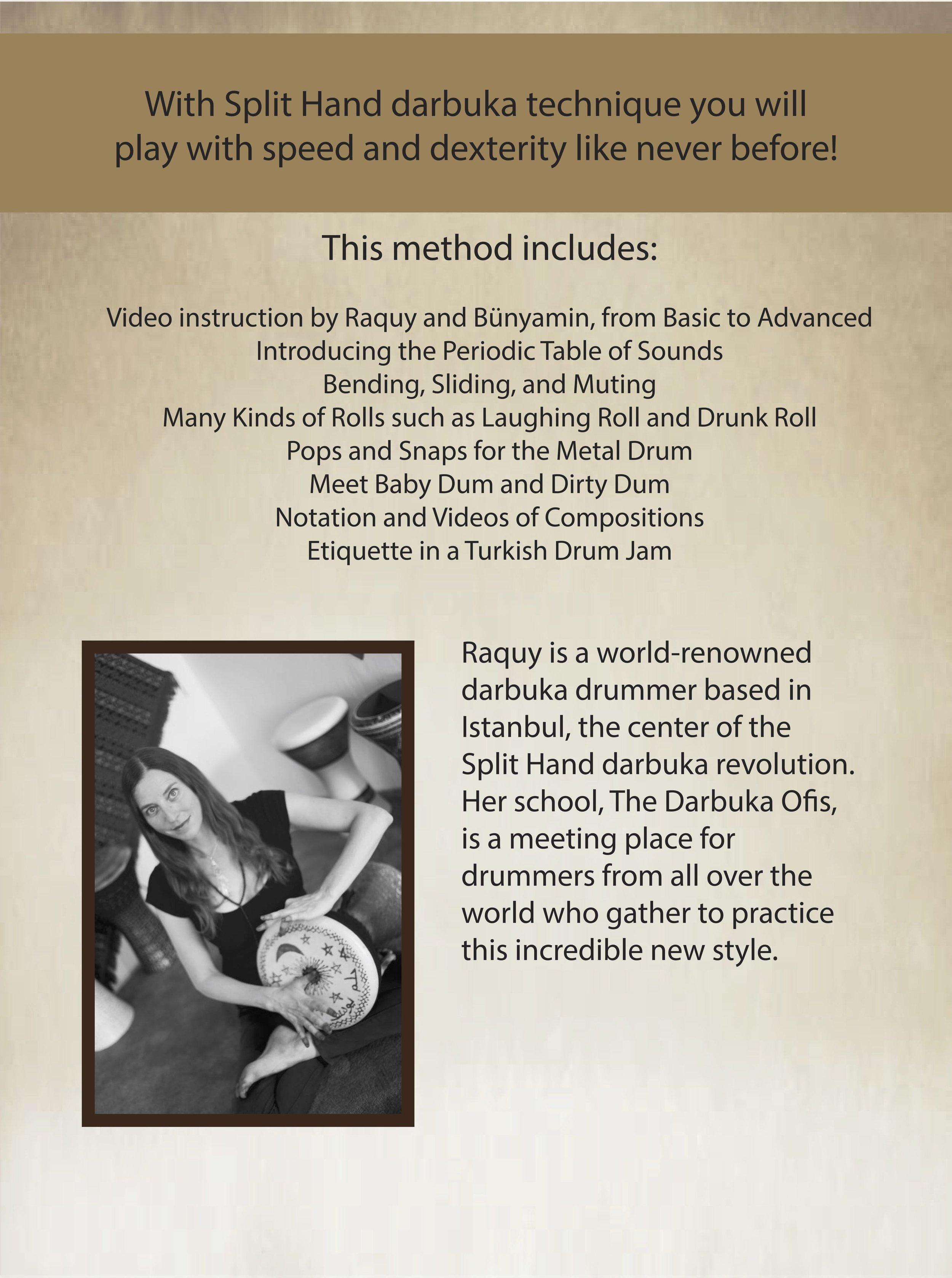 Darbuka Method Modern Split Hand Technique — Raquy Drum Store