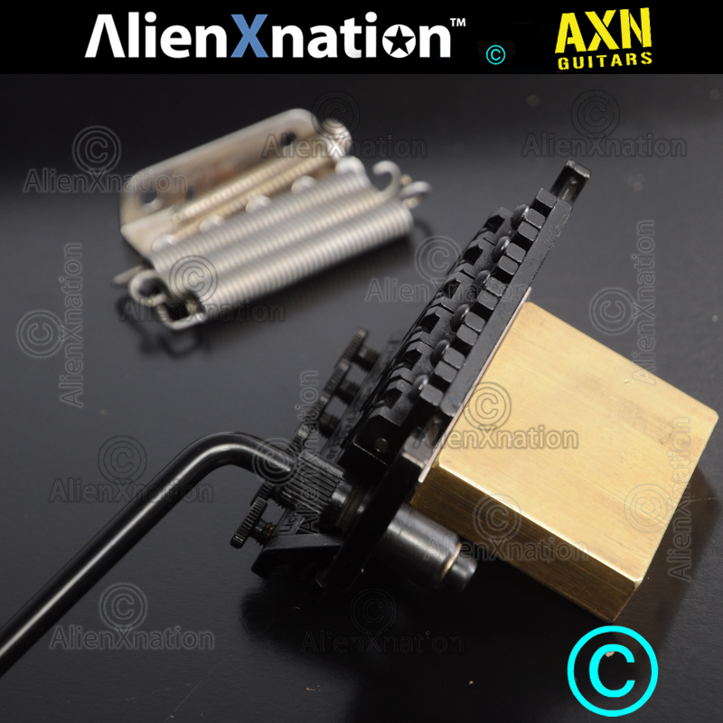 Charvel JT-590 Tremolo made by Schaller with Custom Brass Block — AXN™    Guitar Boutique