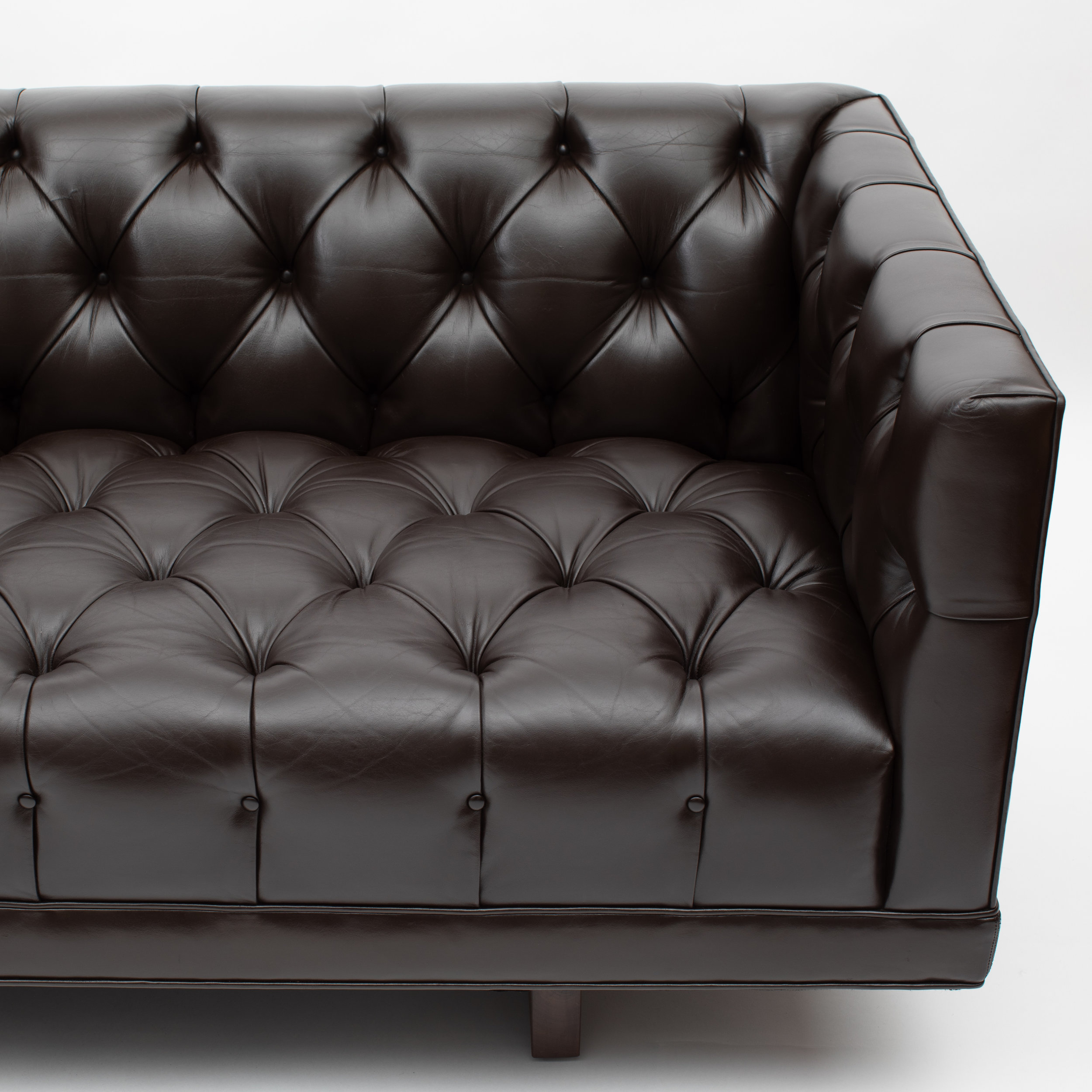 Ward Bennett button-tufted leather sofa for Lehigh Furniture, circa 1960s —  Full Circle Modern