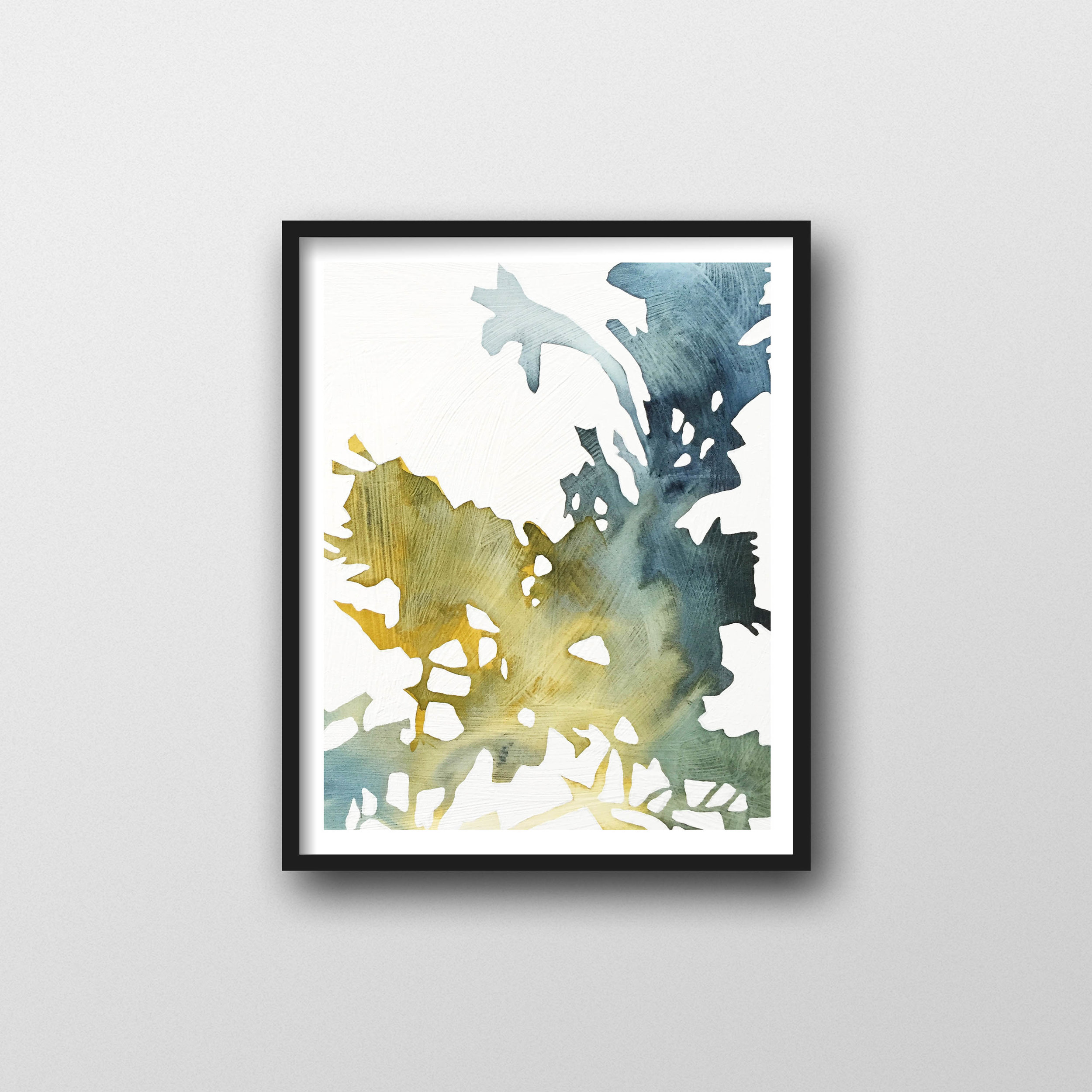 Abstract Watercolor Print Modern Botanical Watercolor For Art