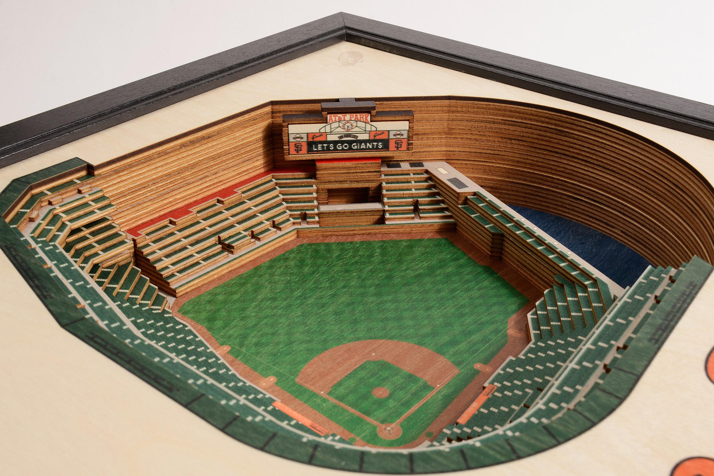 San Francisco Giants Oracle Park 3D Wood Stadium Replica — 3D WOOD on mu map, ca map, mco map, northern europe map, central europe map, western europe map, osi map,