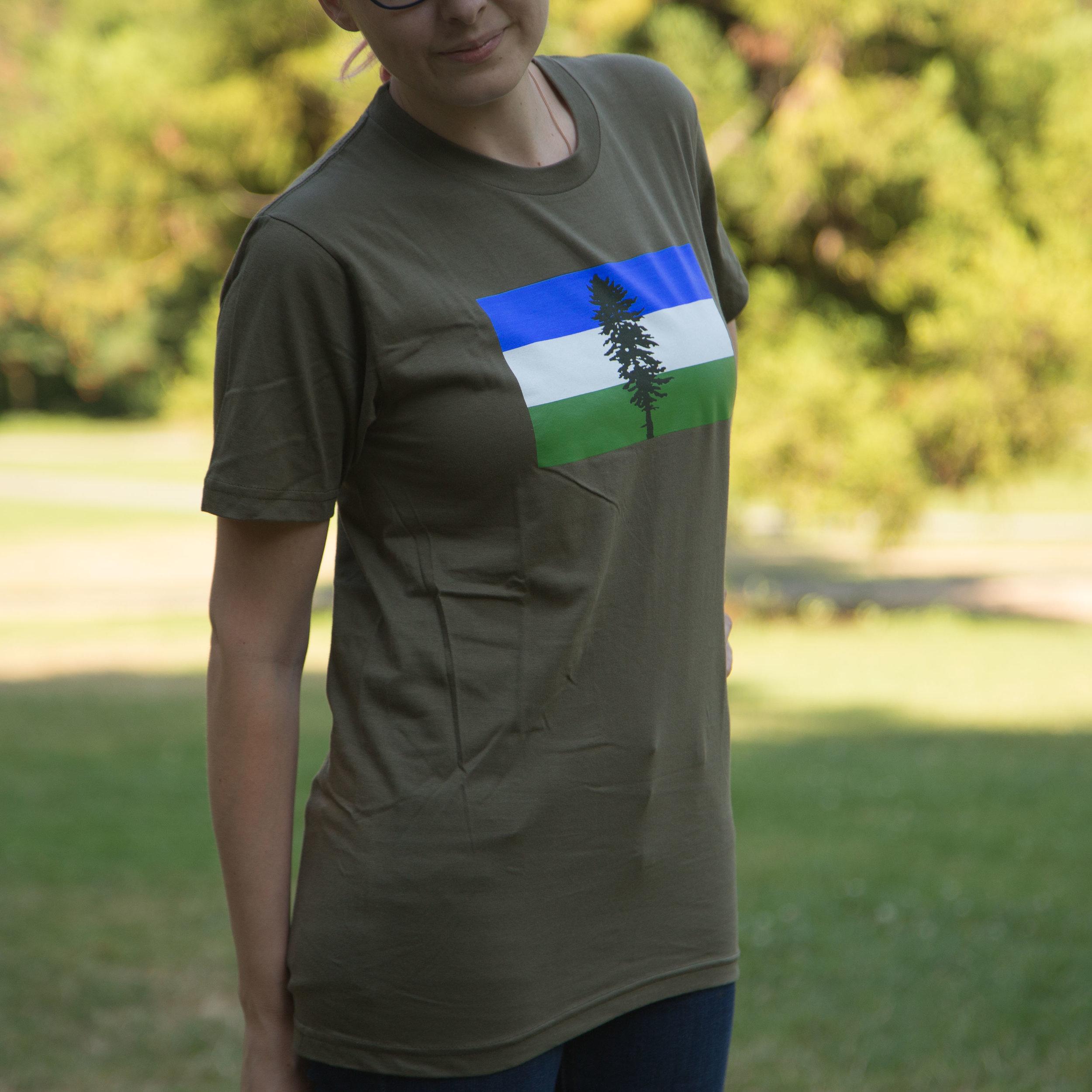 0976eeae CLEARANCE: Cascadia Doug Flag T-Shirt — CascadiaNow!