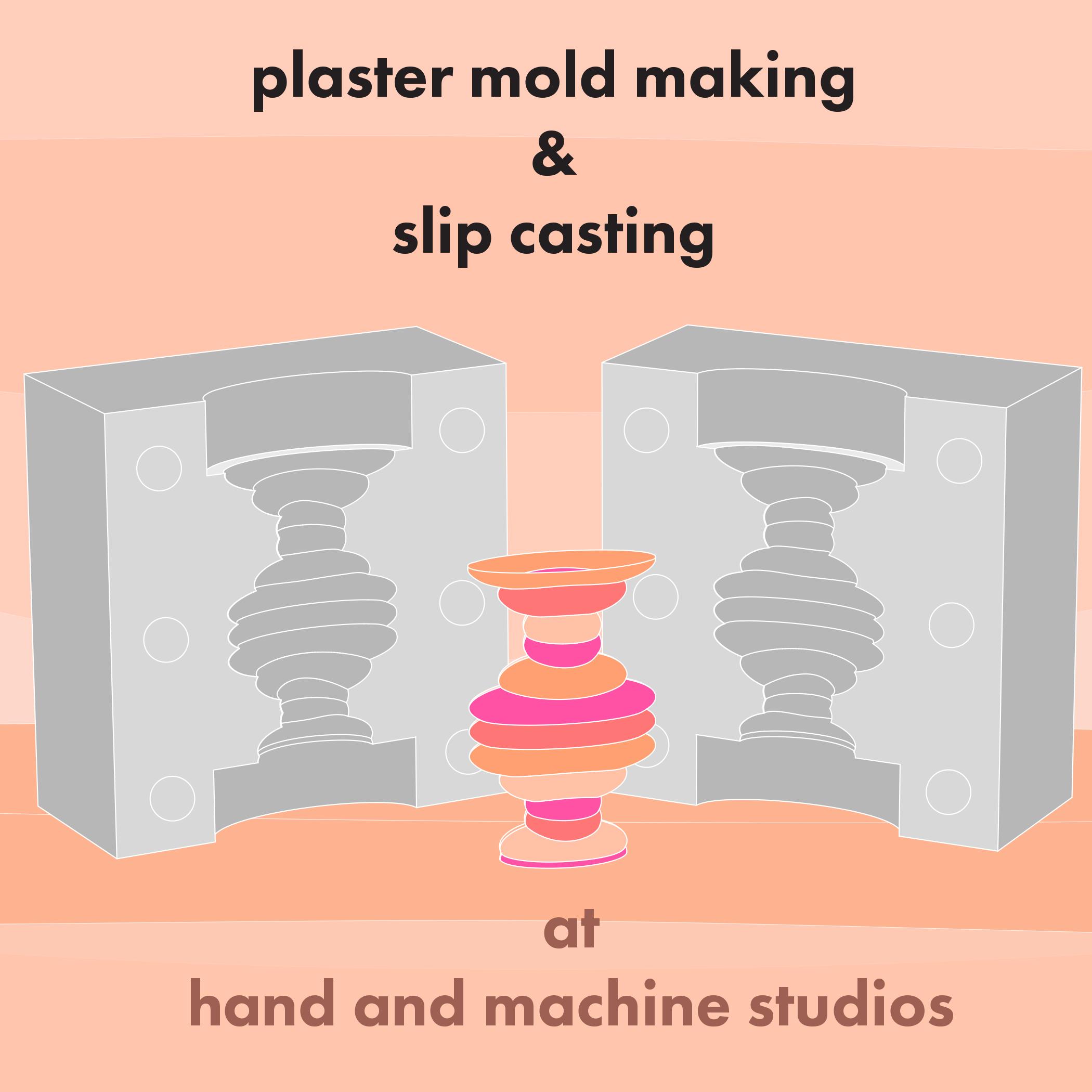 Plaster Mold Making & Slip Casting : Starts March 5th Sunday morning — Hand  & Machine Ceramic Studio: Ceramic Classes, Pottery Classes, & Custom