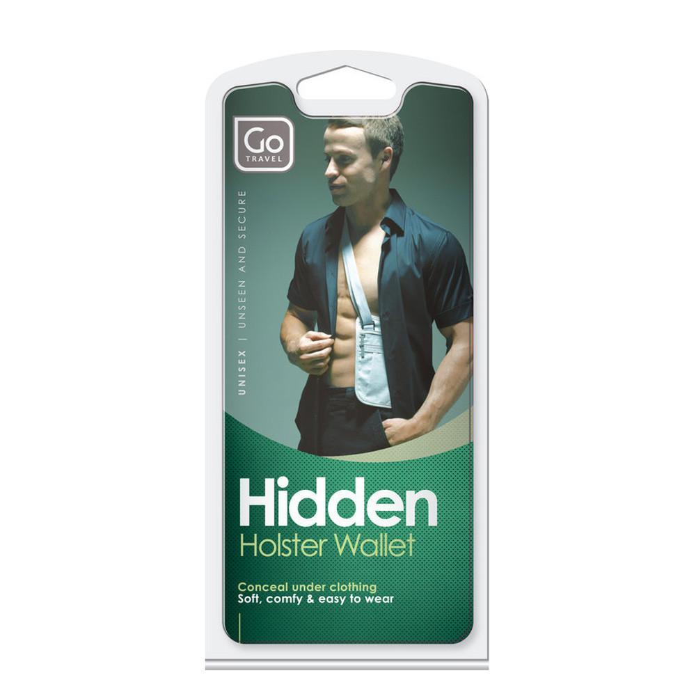 DESIGN GO Hidden Travel Shoulder Wallet Holster Style Under Clothing Black Go Travel 616