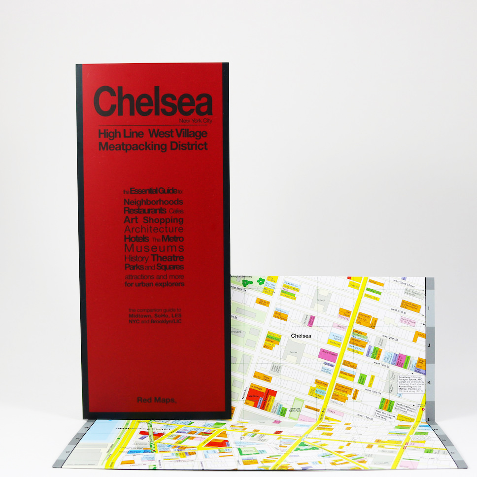 NYC Chelsea Greenwich Village and High Line Red Map — Going In Style on nyc flatiron district map, broadway map, central park map, nyc garment district map, flat iron district map, empire state building map, the high line map, meatpacking map,
