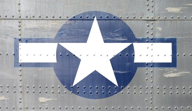 World war 2 plane star logo sticker — Rm Wraps
