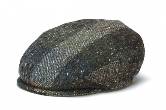 73a3dc0745a4 Vintage Heather Tweed Cap from Hanna Hats of Donegal. Vintage Green  Heather.jpg