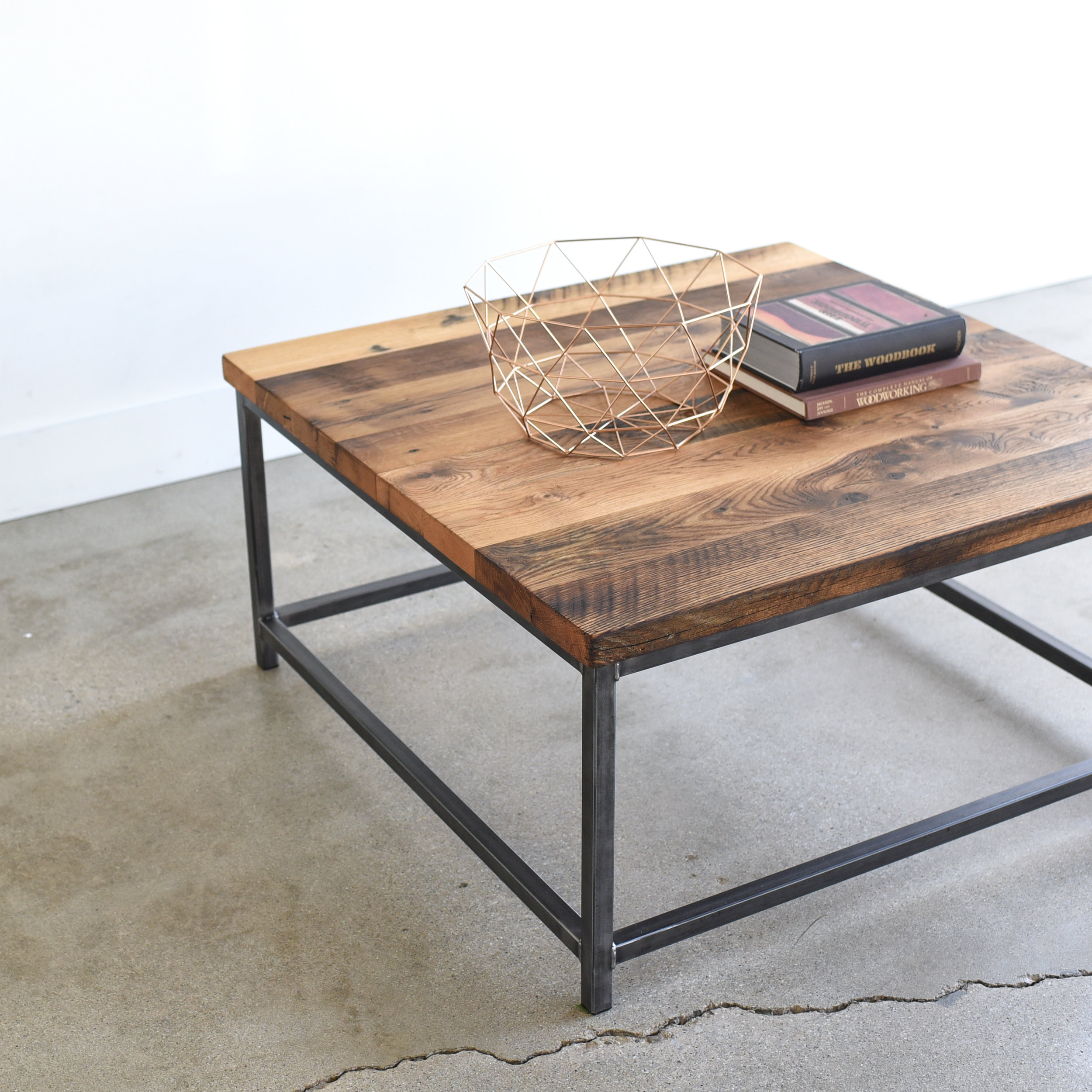- Square Stoic Reclaimed Wood Coffee Table - WHAT WE MAKE