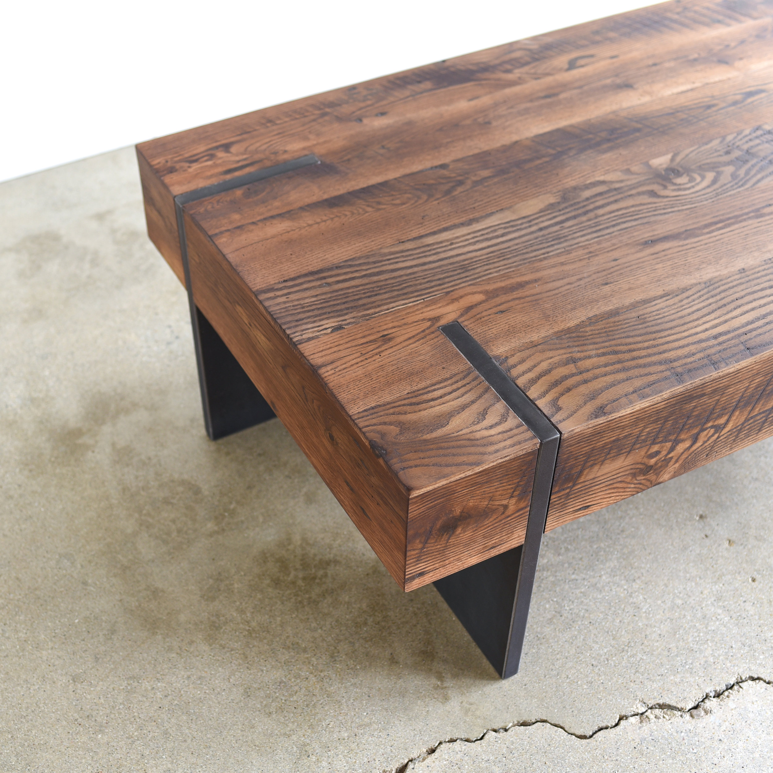 Large Modern Reclaimed Wood Coffee Table What We Make