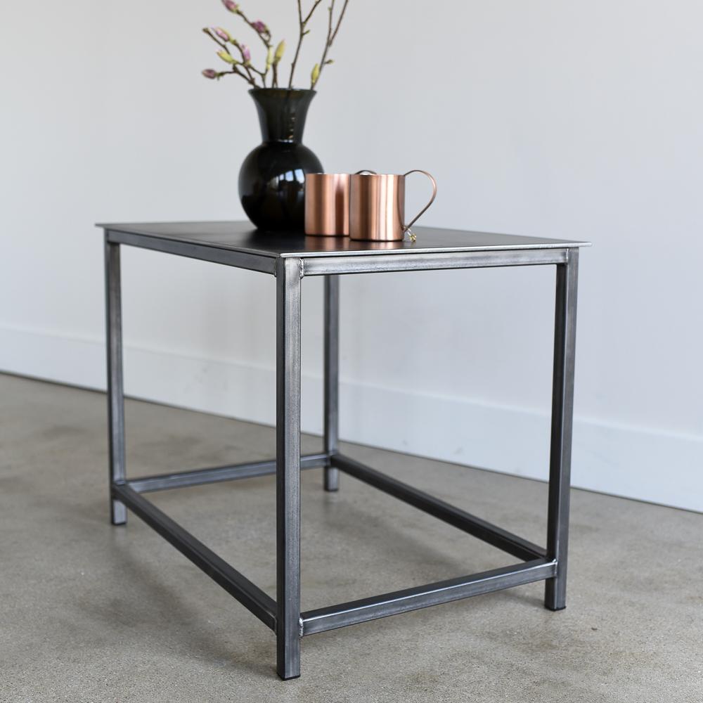 - Industrial Steel Side Table - WHAT WE MAKE