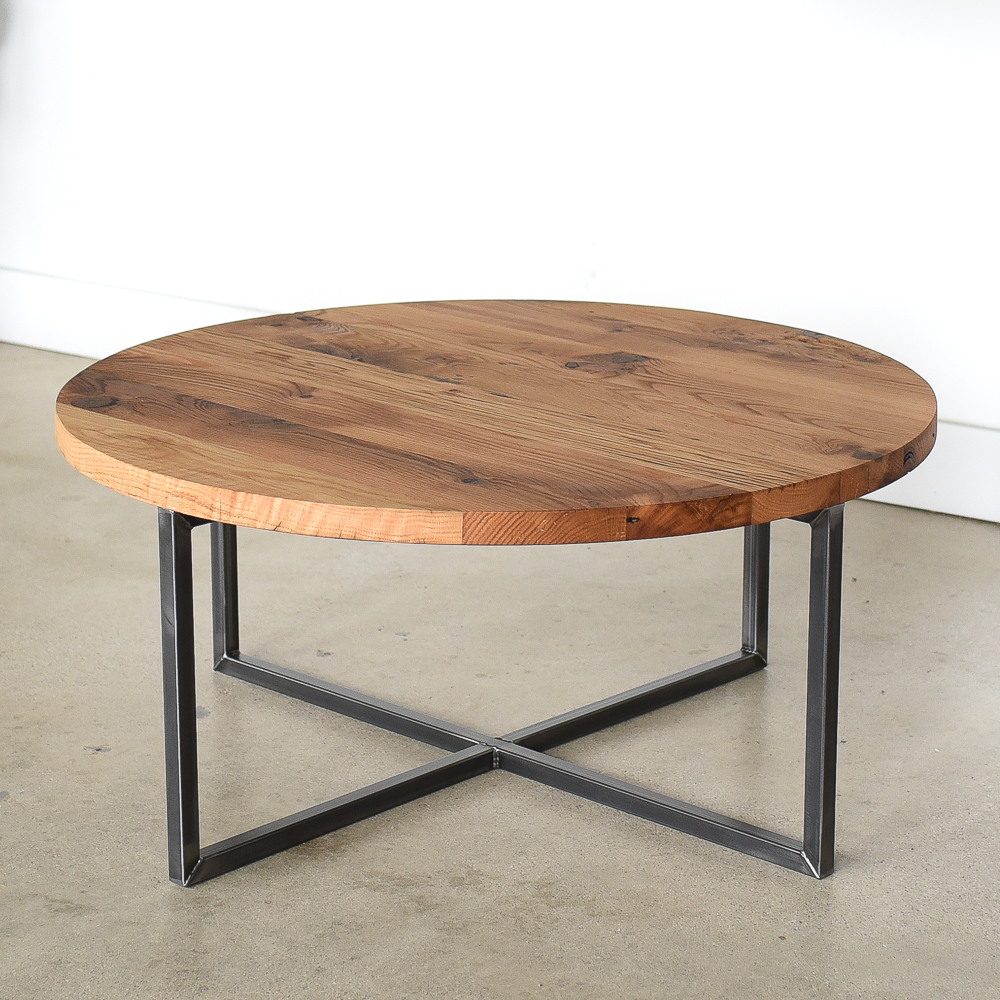 - Round Modern Reclaimed Coffee Table - WHAT WE MAKE