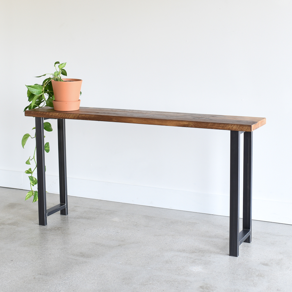 Reclaimed Wood Console Table With H