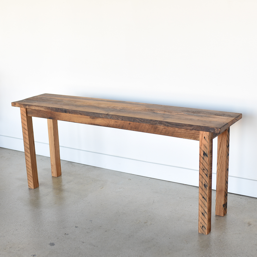 Farmhouse Reclaimed Wood Console Table What We Make