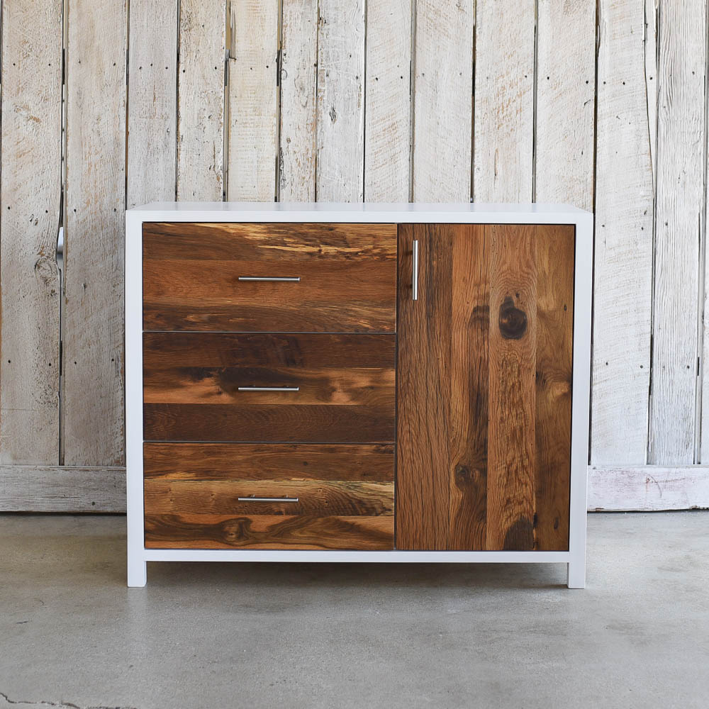 White Reclaimed Wood Nursery Dresser What We Make