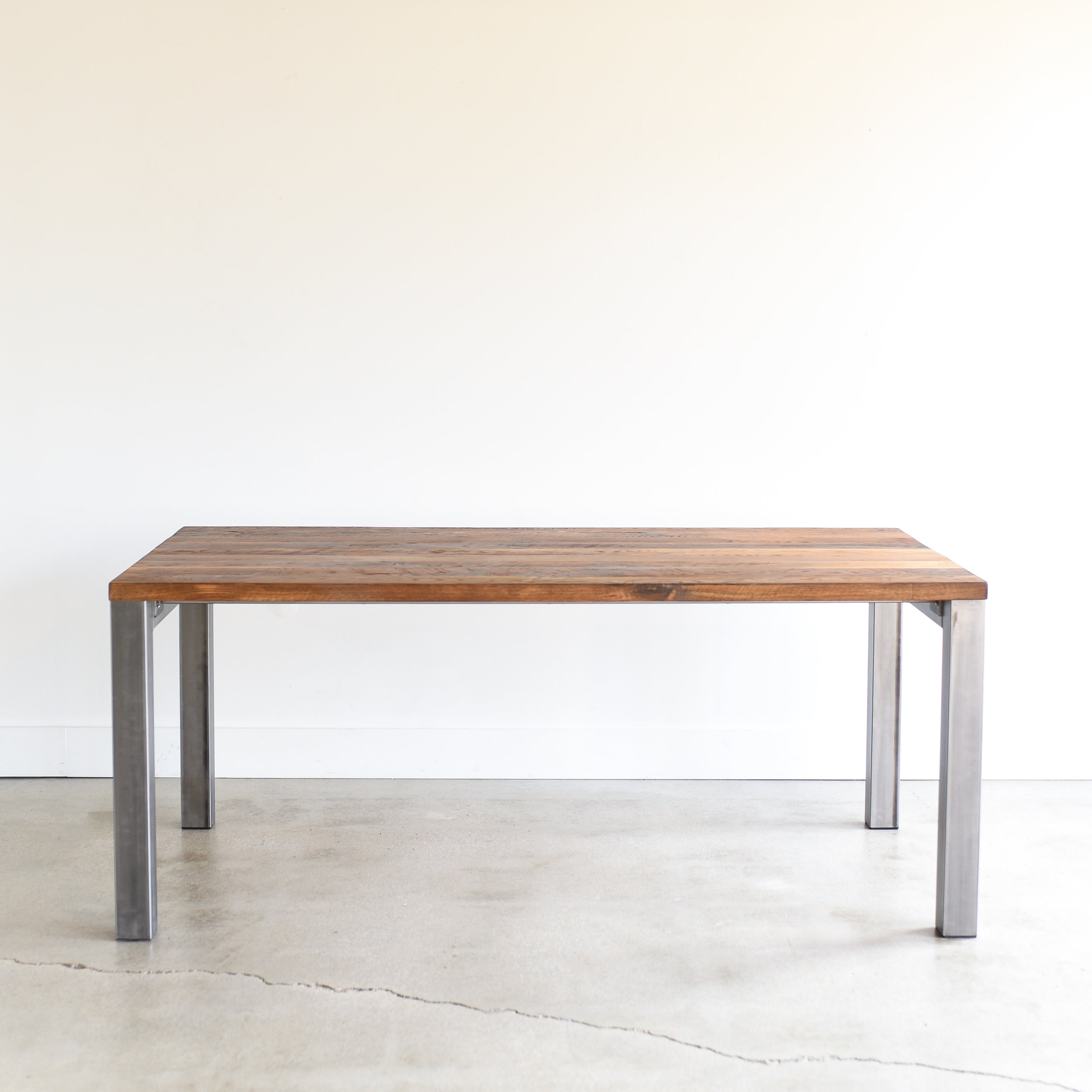 Modern Industrial Reclaimed Dining Table / 3\
