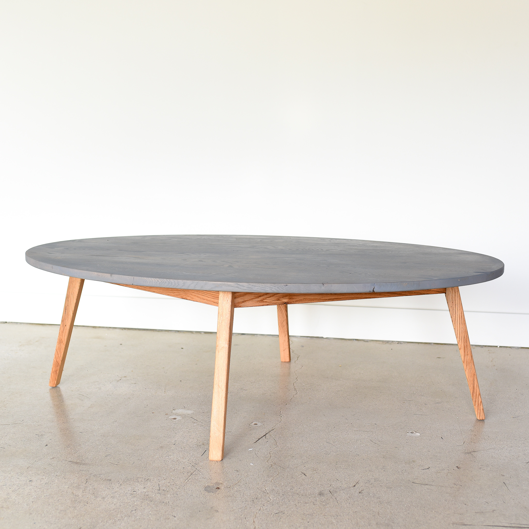 Oval Modern Reclaimed Coffee Table In Stock What We Make