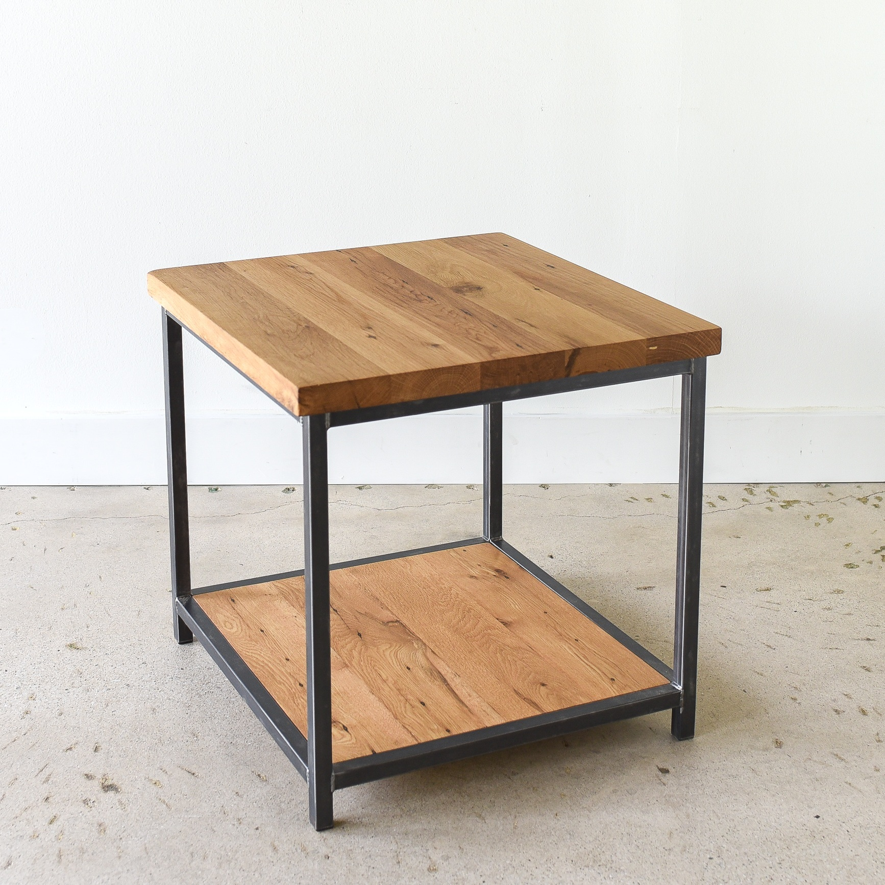 - Modern Industrial Accent Table - WHAT WE MAKE