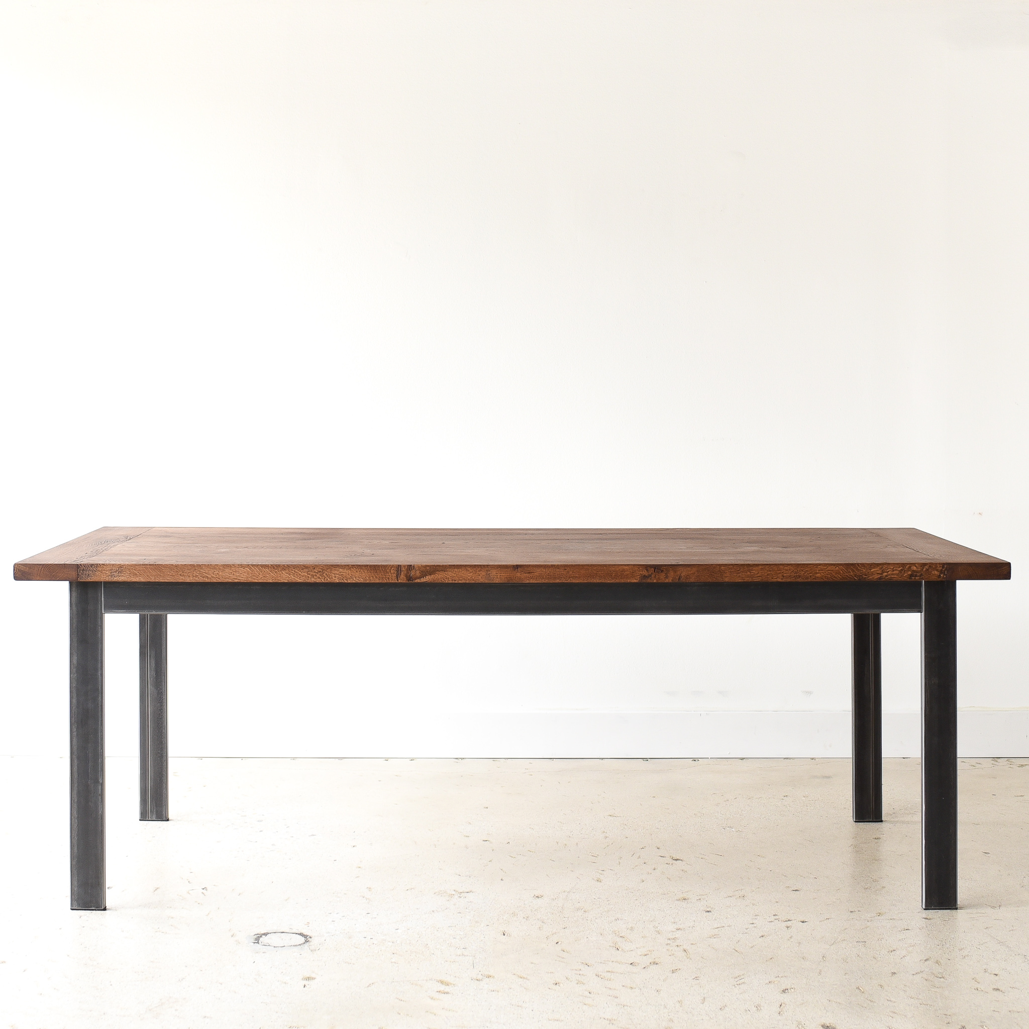 Industrial Reclaimed Wood Dining Table Steel Frame What We Make